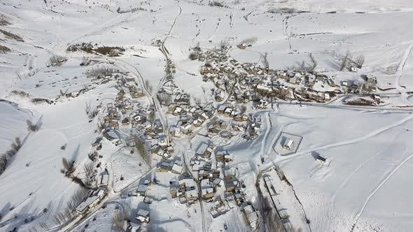 Thumbnail for Village Covered With Snow in Winter