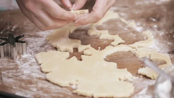 Step by step. Holiday season baking. Baking sugar cookies for Christmas