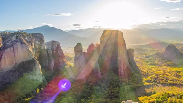 Thumbnail for Sunset Over the Greek Meteora
