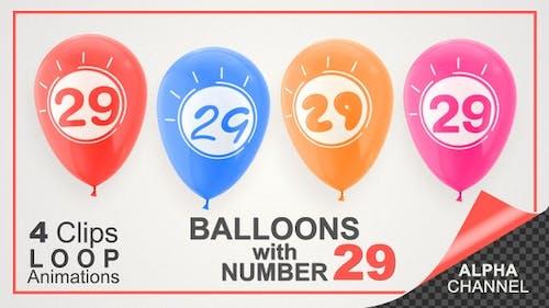Balloons With Number 29 / Happy Twenty-Nine Years Old