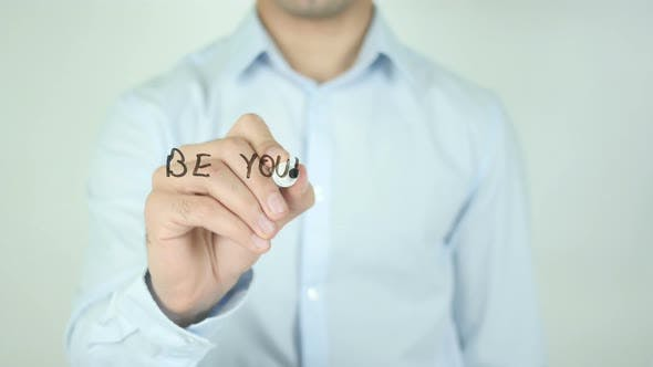 Thumbnail for Be Yourself and Inspire Others, Writing On Transparent Screen