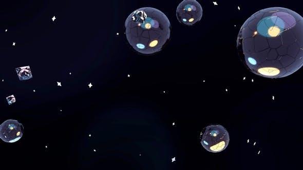Metallischer Weltraum