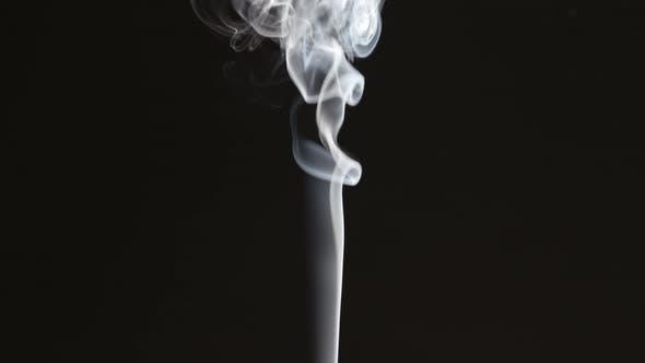 Thumbnail for Thin Smoke Stream On Black Background