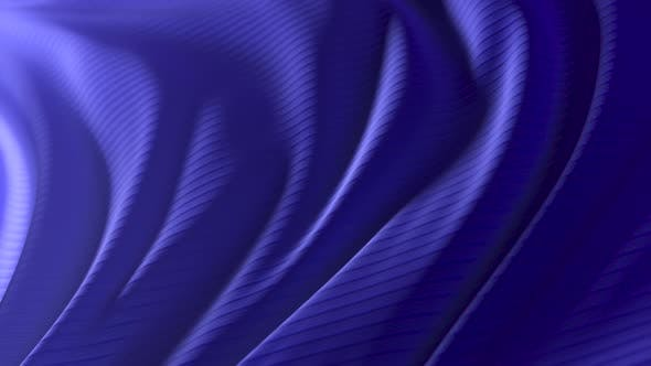 Animation of a Blue Developing Fabric with Stripes