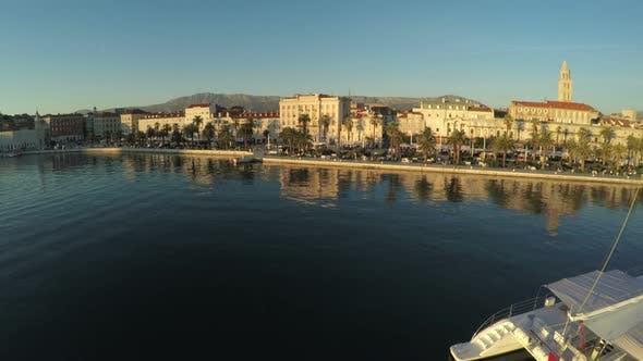 Thumbnail for Aerial view of Split seafront