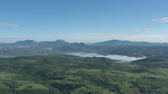 Thumbnail for Above misty scenery with Veliki Krs Deli Jovan and Stol mountains 4K erial footage