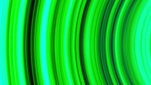 Abstract glowing green arcuate stripes, seamless loop