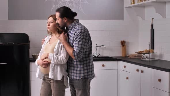 Thumbnail for Patient Husband Calming Down Upset Pregnant Woman