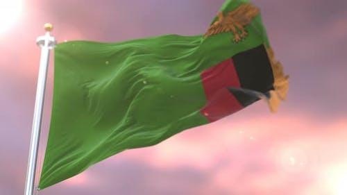 Flagge Sambias