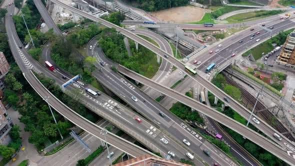 Thumbnail for Top View of Hong Kong City Traffic