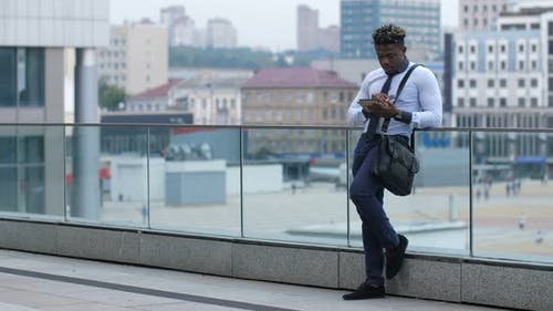 White-collar Worker Working Online with Tablet Pc