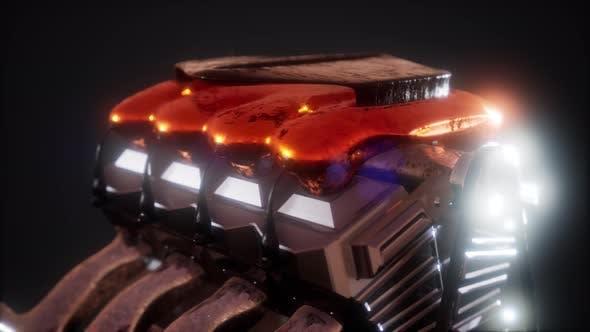 Thumbnail for Close Up Detail des Kfz-Motors