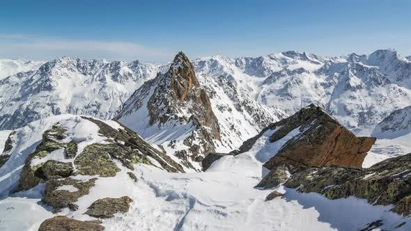 Thumbnail for Sunny Winter Alps Mountains Peak in Snowy Nature Landscape