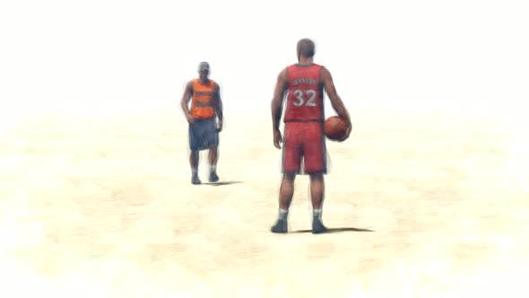Basketball Player 2 Friends Stop Motion