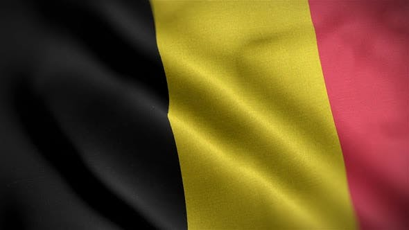 Thumbnail for Belgium Flag Closeup Blowing In Wind
