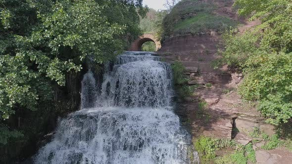 Thumbnail for Aerial view of a waterfall