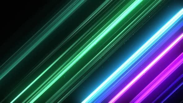 Abstract Diagonal RGB Lines