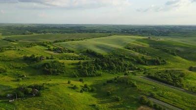 Countryside Of Ukraine Aerial Shot