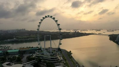 Singapore City Skyline at Marina Bay Singapore