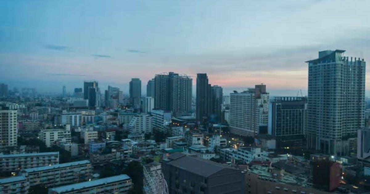 City In Morning