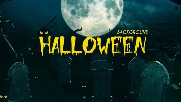 Halloween Graveyard in The Moon