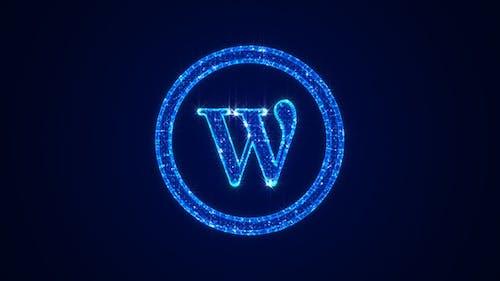Wordpress Icon Hologram