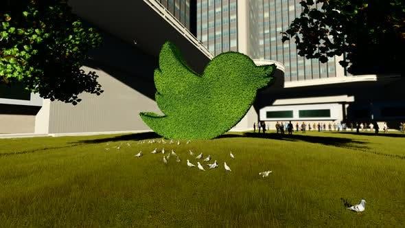 Twitter Ornamental Tree Statue