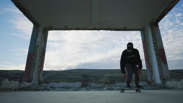 Thumbnail for Skater doing a flip jump