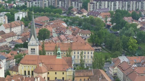 Thumbnail for Ancient Architecture in Old European City of Ljubljana Slovenia