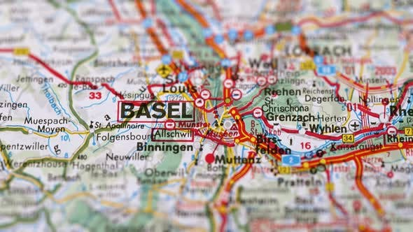 Thumbnail for City Basel On Europe Map, Slider Shot