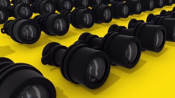 Multiple Binoculars In A Row Hd