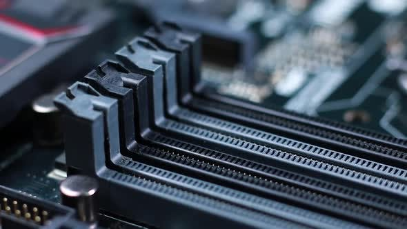 Thumbnail for Ram Slots On a Motherboard 01