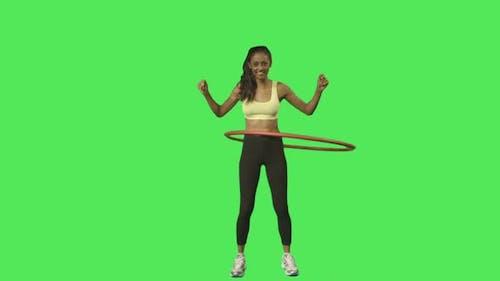 exercice hula hoop féminin
