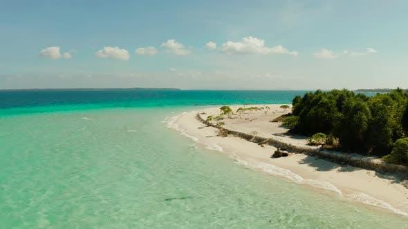 Thumbnail for Tropical Island with Sandy Beach. Balabac, Palawan, Philippines.