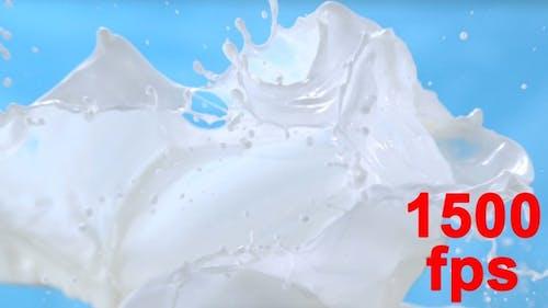 Milk Waves Splashing Milk