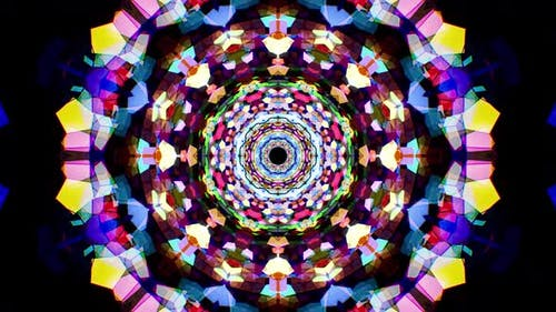 Colorful Stained Glass Kaleidoscope Loop 4K 16