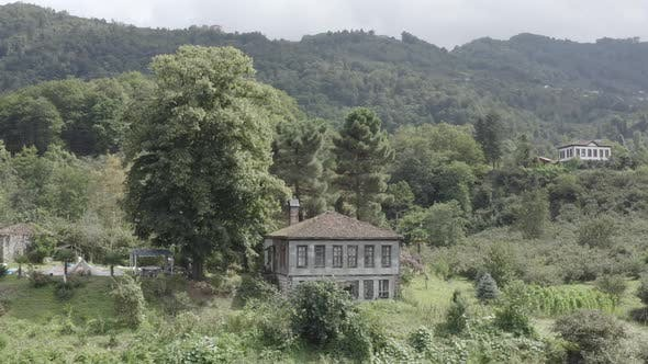 Thumbnail for Trabzon City Old House Forest And Mountains Aerial View 5