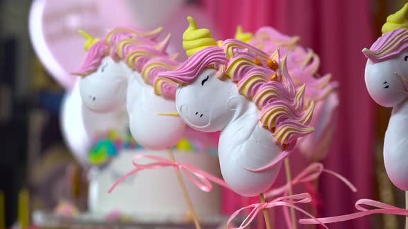 Thumbnail for Unicorn Themed Treats, Close-up Against Colorful Background