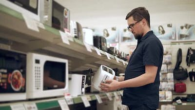Man Buying Appliances for Kitchen