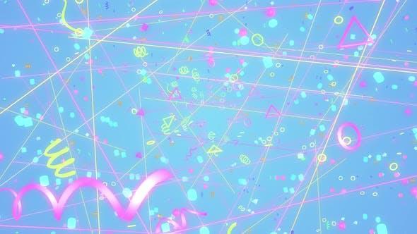 Thumbnail for Geometric Retro 90s 01 4K