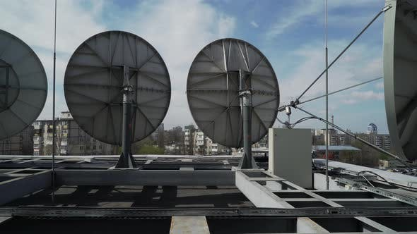 Thumbnail for Industrial Satellite Dishes on the Roof