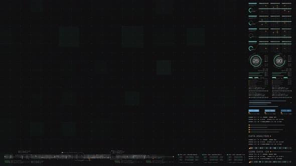 Futuristic User Interface Data Head Up Display Screen Background 02