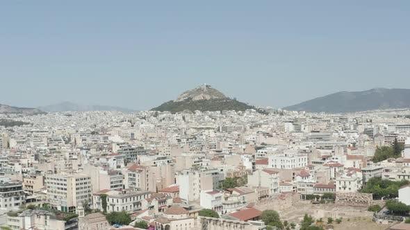 Thumbnail for Slow Establishing Dolly Aerial Towards Mount Lycabettus in Athens, Greece
