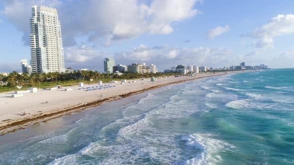 Thumbnail for Turquoise Waves On South Beach Miami, Florida USA