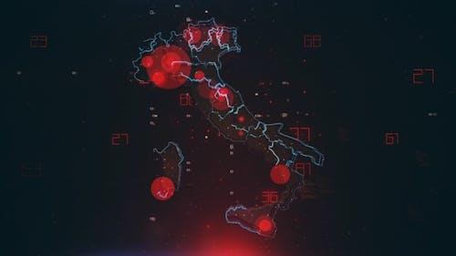 Mapping Epidemie Ausbruch in Italien 4K