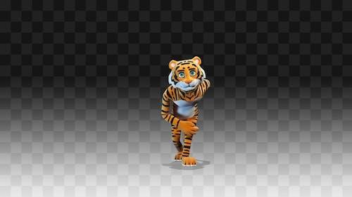 Tiger Greets And Bows