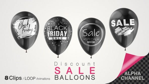 Black Friday Discount Sale Balloons