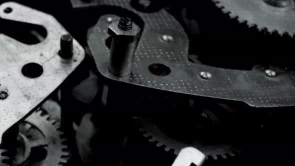 Thumbnail for Old Vintage Watch Mechanism Working Macro Black and White