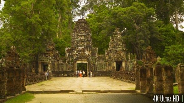 Thumbnail for 4K Gateway Entrance to Preah Khan Temple in Siem Reap