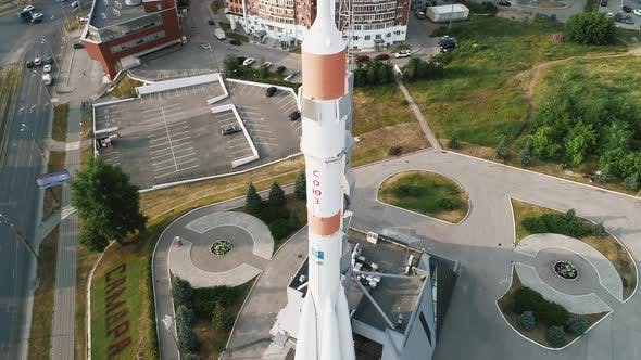 Aerial View, a Rocket That First Flew Into Space, a Museum of Cosmonautics, Soyuz Rocket